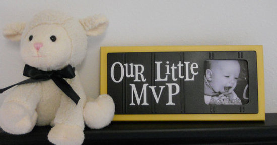 Baby Nursery Sports Photo Frame ($17)