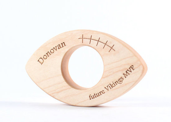 Personalized Wood Football Toy ($18)