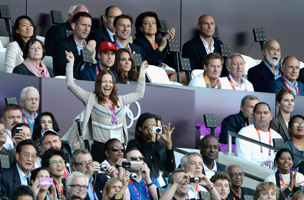 William, Kate, and Harry watched some track and field on day nine.