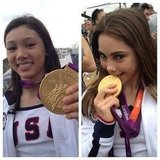 Team USA gymnasts Kyla Ross and McKayla Maroney showed off their gold medals for the camera. Source: Instagram user todayshow