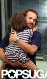Peter Sarsgaard got a big hug from daughter Ramona.