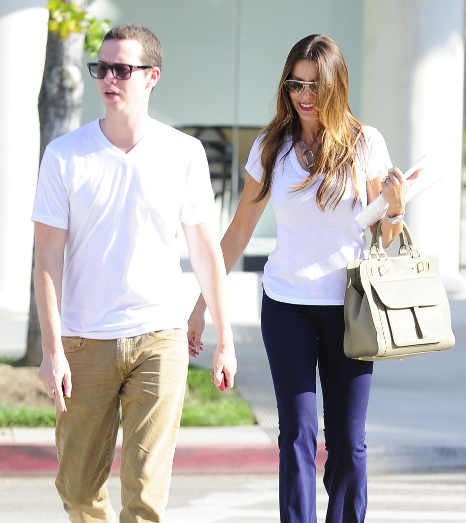 Sofia Vergara laughed with a friend in LA.