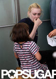 Dakota Fanning hung out with Ramona Sarsgaard on set.