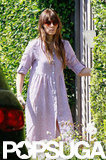Jessica Biel sported a shirtdress.