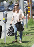 Jennifer Garner carried two bags in LA.