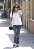 Natalie Portman took a walk in LA.