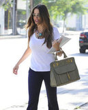Sofia Vergara carried papers in her arm in LA.