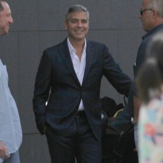 George Clooney Filming Commercial in Milan