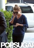 Lauren Conrad made a phone call after arriving in LA.