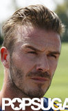 David Beckham looked serious at practice.