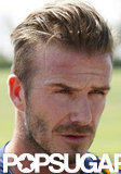 David Beckham attended soccer practice in LA.
