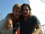 Gabriel Mann and Nick Wechsler sailed the sea while shooting the second season of Revenge. Source: Twitter user Gabriel_Mann