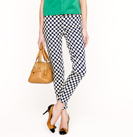 How classic are these retro-inspired polka-dotted pants? Audrey Hepburn in Roman Holiday here we come. J.Crew Café Capri in Pop Art Polka Dot ($118)