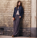 Without veering into pajama-pant territory, these silky drawstring pants have a chic feel to them. Paired with sportier opposites, they're downright edgy. Club Monaco Lana Silk Pull-On Pant ($150)