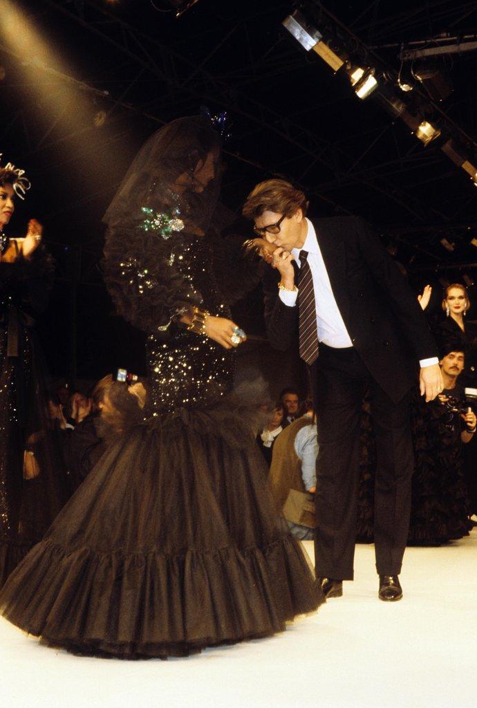 Yves saint laurent birthday fashion pictures popsugar for Yves saint laurent wedding dress