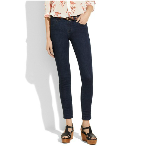 If Jenny wore jeans, then we'd bet she would be into these dark-washed cropped skinnies. Madewell Skinny Skinny Ankle Jeans ($115)