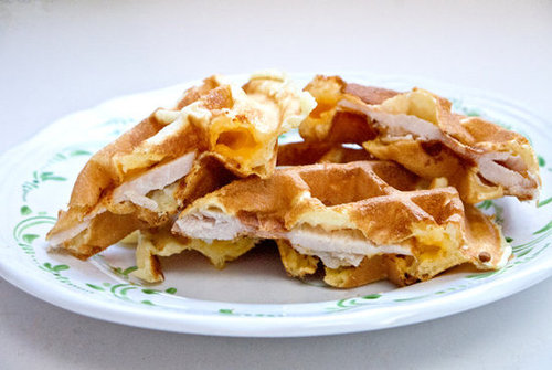 Turkey Cheese Waffles