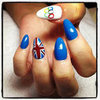 Lily Allen Olympics Nail Art