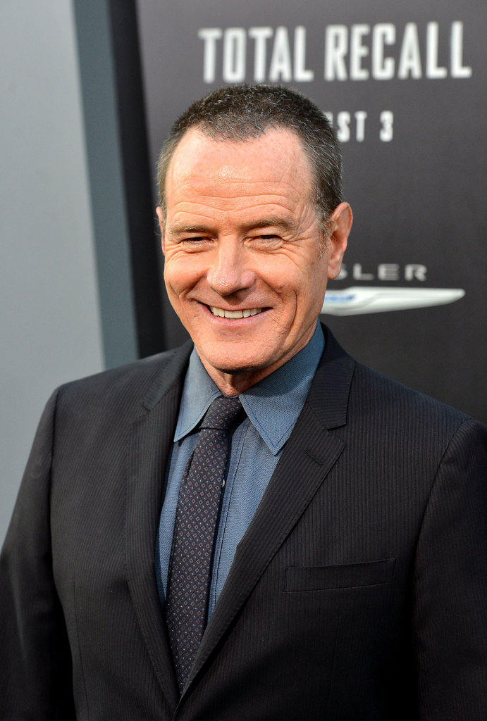 Bryan Cranston gave a smile at the Total Recall premiere in LA.