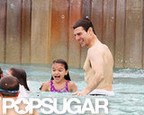 Suri Cruise enjoyed a day at the water park with her dad Tom Cruise.