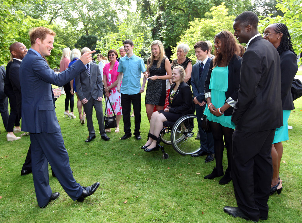 The winning athletes of the First National Finals of the School Games were recognized at a reception hosted by Prince Harry.
