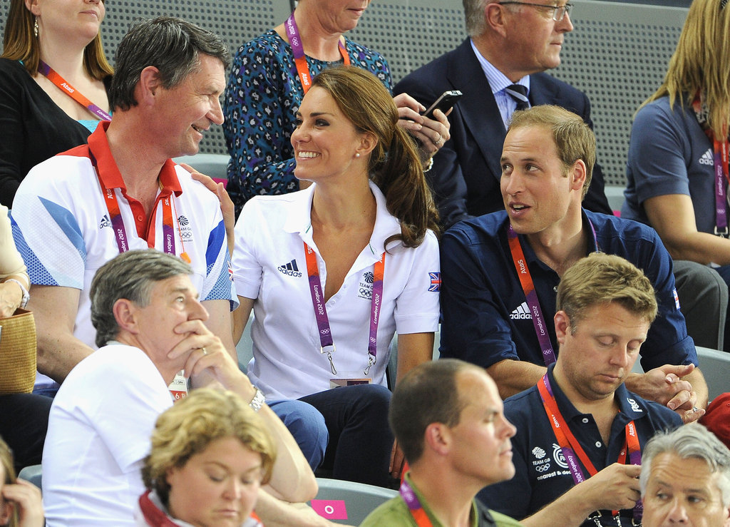 Kate Middleton smiled big in the stands.