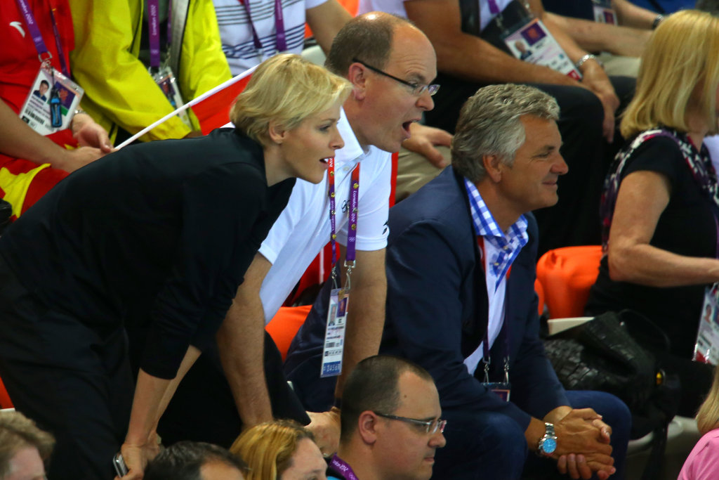 Prince Albert and Princess Charlene got into the diving at the Olympics.