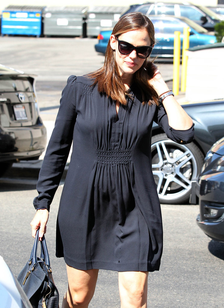 Jennifer Garner wore sunglasses in Brentwood.