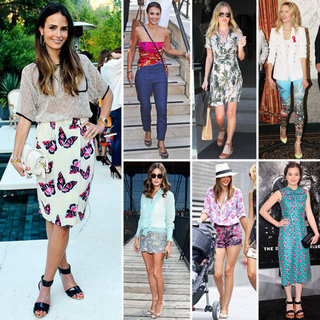 Celebrities Wearing Summer Floral Prints 2012