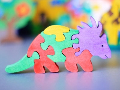 Wooden Puzzle Dinosaur ($10)