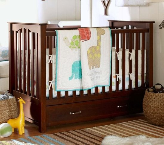 Pottery Barn Organic Safari Animals Nursery Bedding ($209, originally $227)