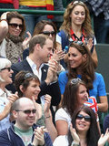 Will and Kate chatted while watching Andy Murray.