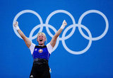 Weightlifter Maryna Shkermankova of Belarus was excited about her win.