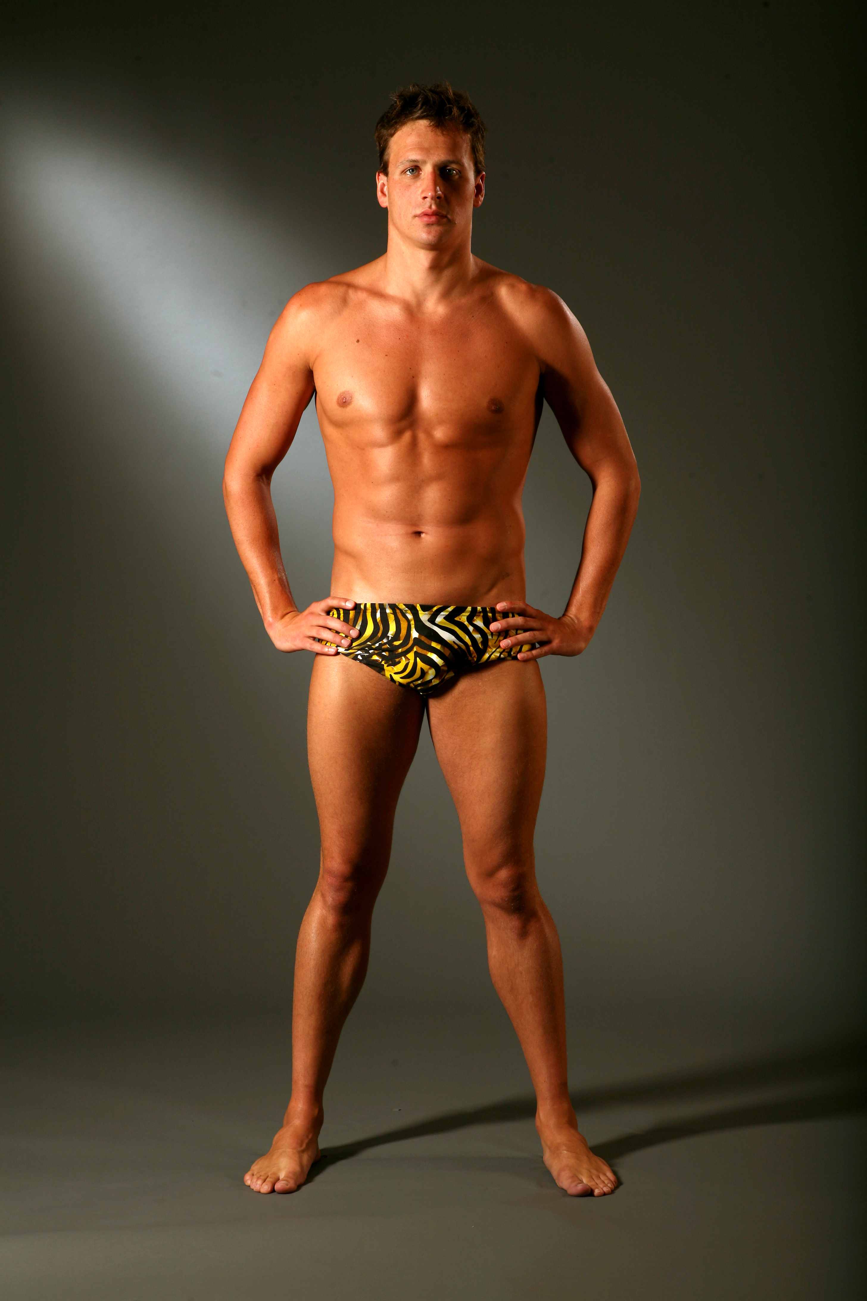Ryan posed in his Speedo. | What Would Ryan Lochte Do? Get to Know the ...: www.popsugar.com/love/photo-gallery/18456658/image/24273993/Ryan...