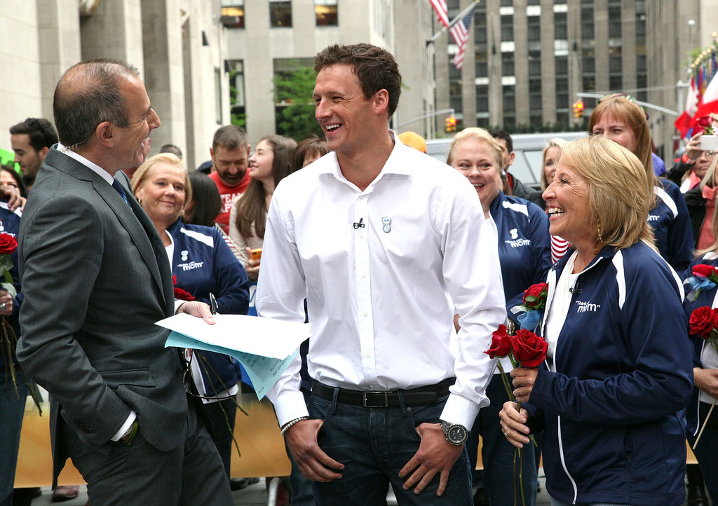 Ryan laughed with his mom and Matt Lauer on the Today show last year.