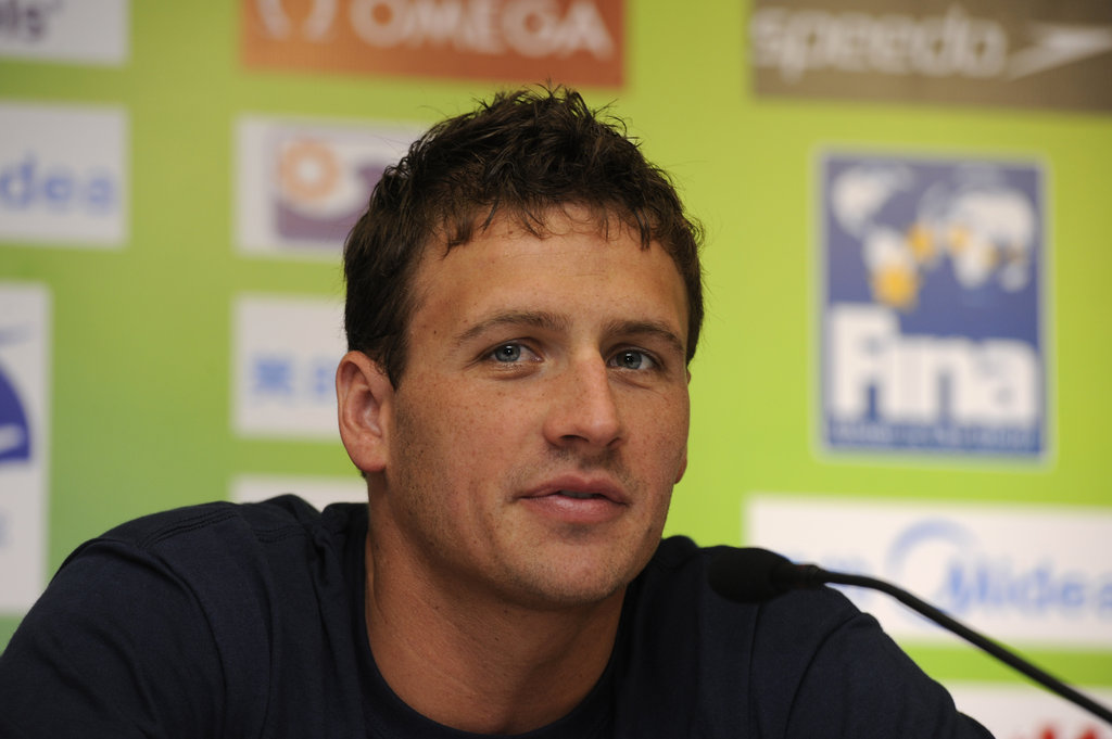 Ryan looked handsome at the FINA press conference in 2011.