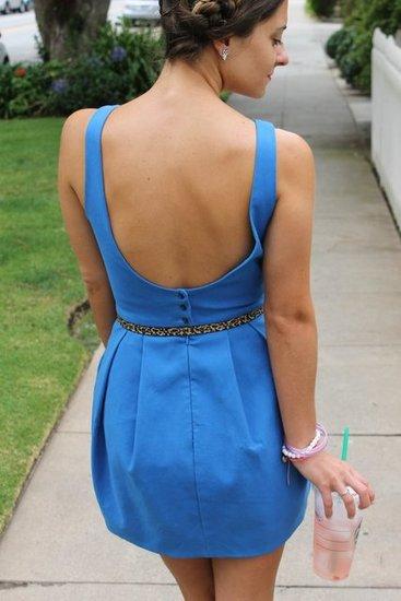 Backless dress. Backless Zara Dress. Leopard Belt