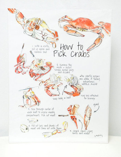 How to Pick Crabs Kitchen Art