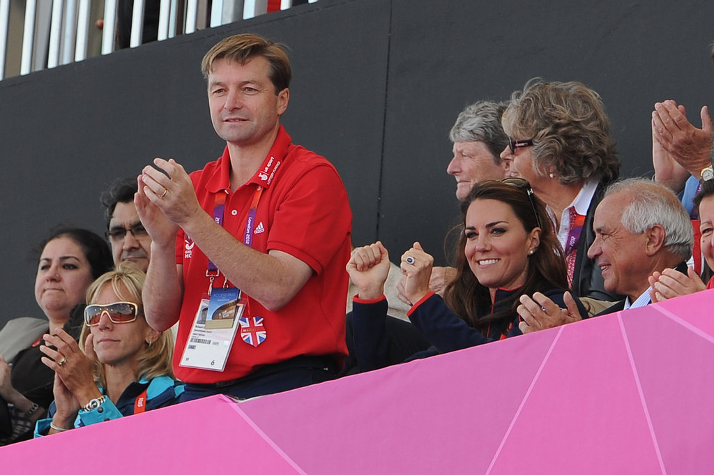 Kate Middleton wore navy and red for her latest day of the Summer Games.