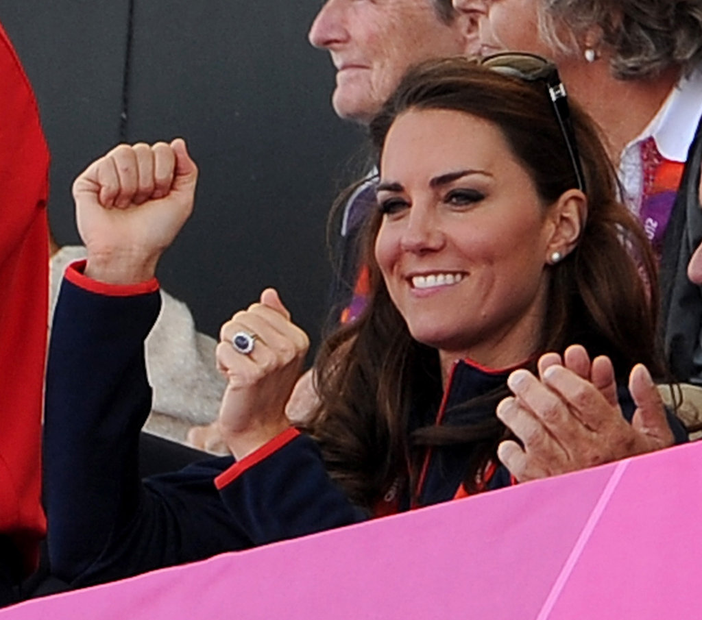 Kate Middleton gave a cheer.