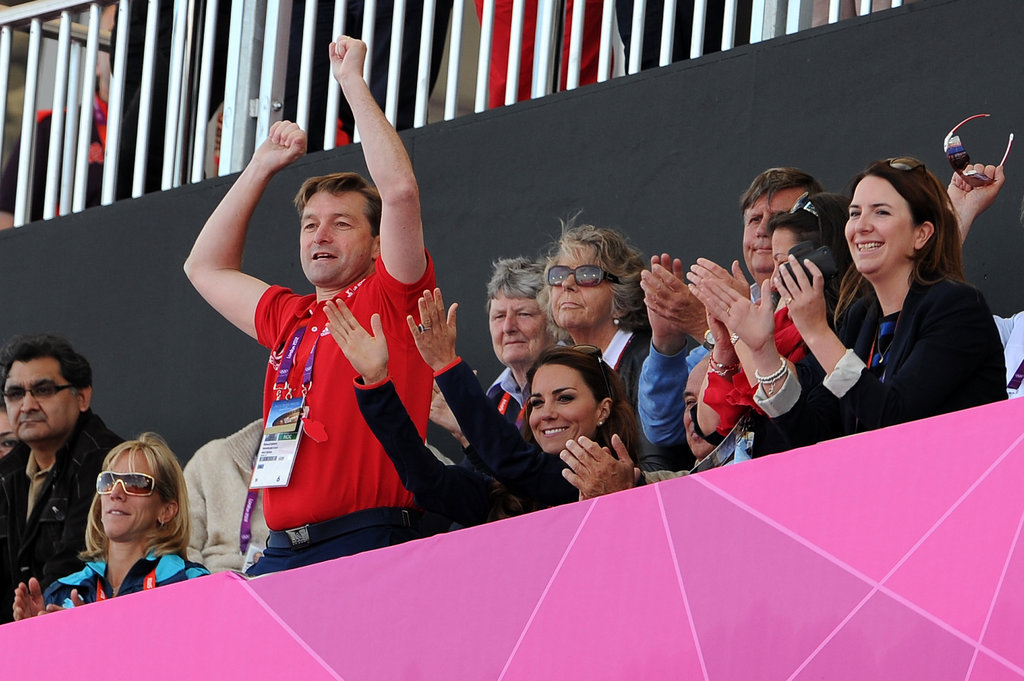 Kate Middleton cheered on the men's field hockey team.