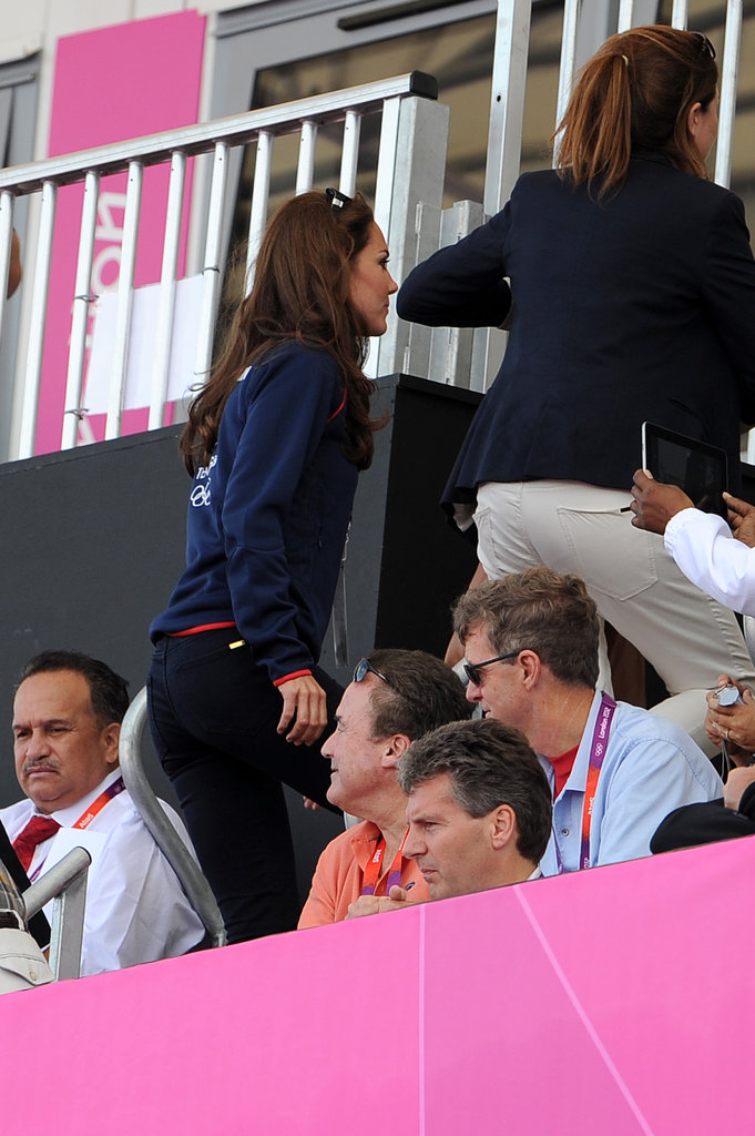 Kate Middleton cheered on Great Britain's men's field hockey team in the stands.