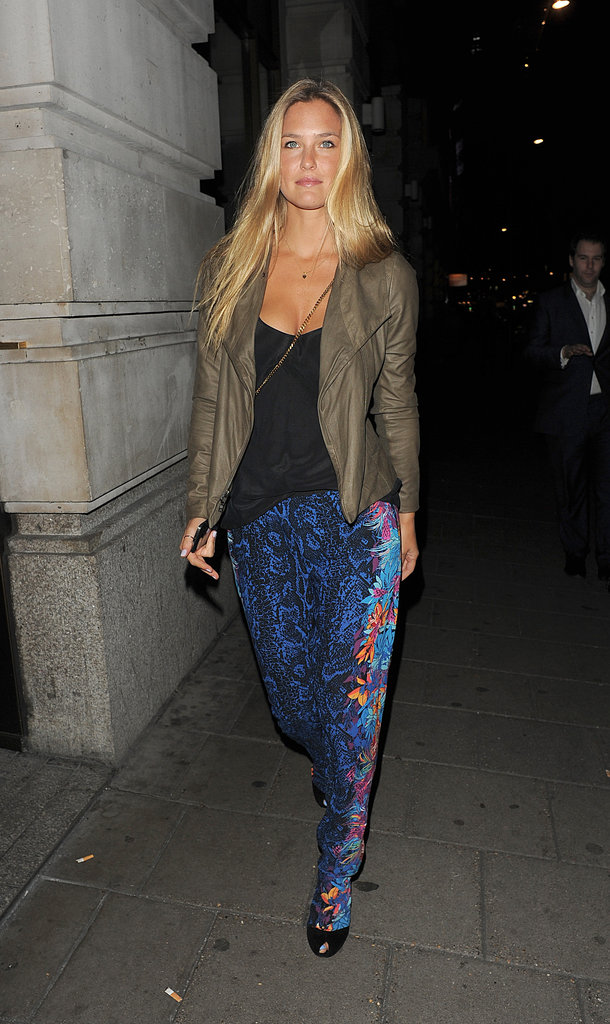 Bar Refaeli is in London watching the Olympic Games.