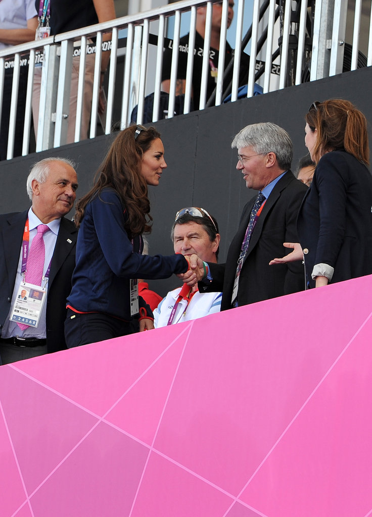 Kate Middleton took her seat in the stands.