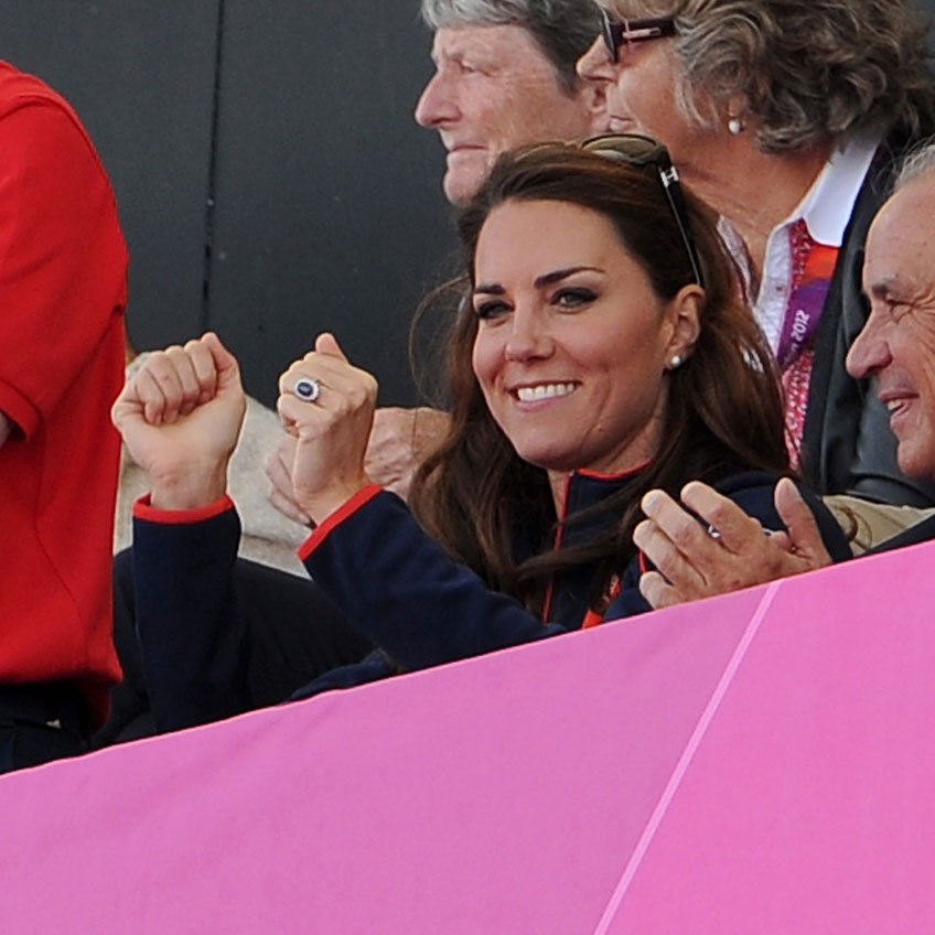 Kate Middle raised her hands for team GB.