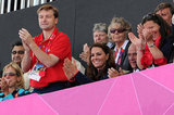 Kate Middleton was in the stands at a men's field hockey match at the Olympics.