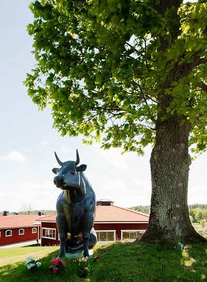 The estate is over 60 acres. We love the bull statue (is that Ferdinand?) under this tree!