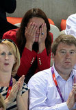Kate couldn't watch the tense swimming competitions.