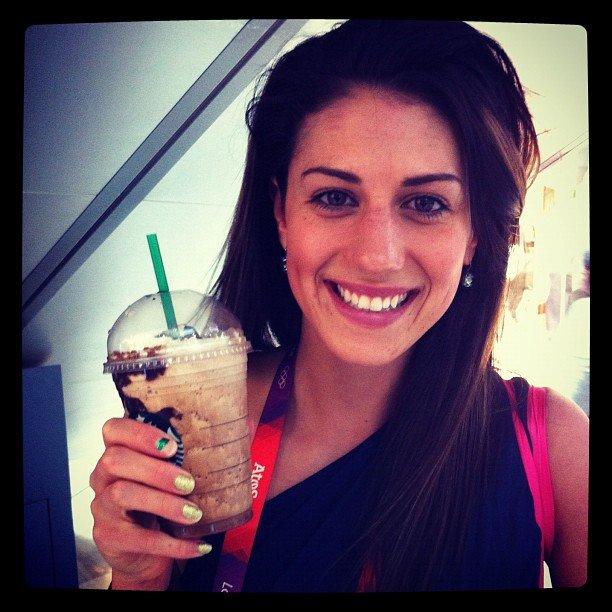 Stephanie Rice treated herself to a Starbucks frappe post-Olympics. Source: Instagram user itsstephrice