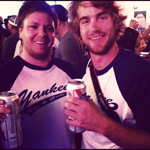 MasterChef 2011 stars Michael Weldon and Hayden Quinn took in a Yankees game in NYC. Source: Instagram user hayden_quinn